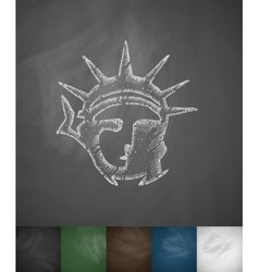 Statue of Liberty icon Hand drawn vector image vector image