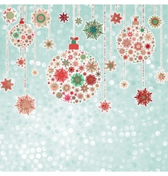 Stylized Christmas balls on elegant EPS 8 vector image