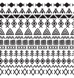 Tribal seamless pattern with doodle elements vector