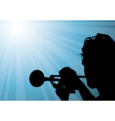 Trumpet player illustration vector