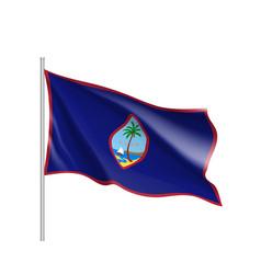 Waving flag of guam vector