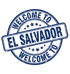 welcome to el salvador vector image vector image