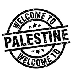 Welcome to palestine black stamp vector