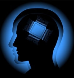 digital brain vector image