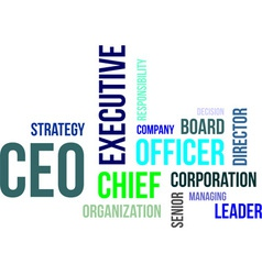 Word cloud ceo vector