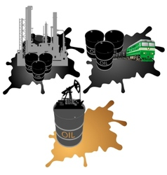 Mining processing and transportation of oil vector image