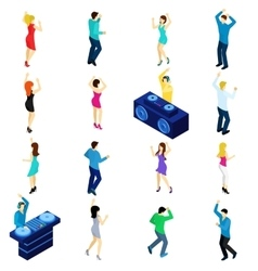 Dancing People Isometric vector image