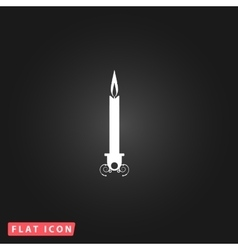 Silhouette candle icon vector