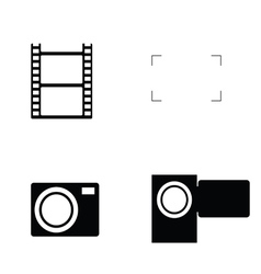 Camera focus icon vector
