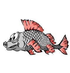 A small fish vector image