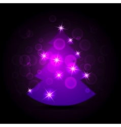 Abstract purple christmas tree vector image vector image