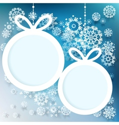 Blue and white winter with snowflakes EPS 10 vector image vector image