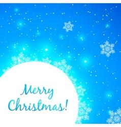 Blue shining Christmas greeting card vector image