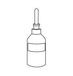 bottle dropper medical healthcare icon vector image vector image