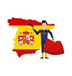 Bullfighting classic icon of spanish culture vector