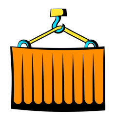 Cargo container icon cartoon vector