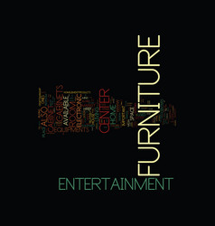 Entertainment center furniture text background vector