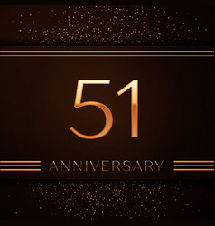fifty one years anniversary celebration logotype vector image vector image