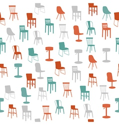 Furniture seamless pattern vector image