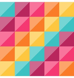 Geometric pattern with rainbow diamond shapes vector