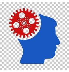Head gearwheel icon vector