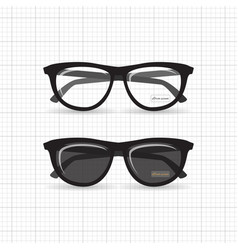 hipster isolated glasses vector image vector image