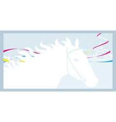 Horse and winter vector