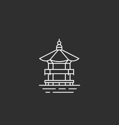 korea landmark in outline style vector image vector image