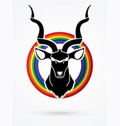 Kudu head oryx big horn animal graphic vector