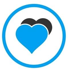 Love Hearts Icon vector image vector image