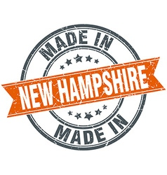 New hampshire orange grunge ribbon stamp on white vector