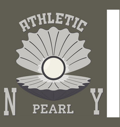 new york pearl t-shirt vector image