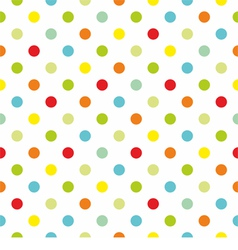 Pattern with colorful polka dots white background vector