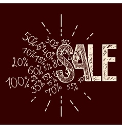 Sale hand-lettering vector image vector image