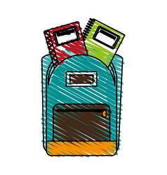 School backpack icon image vector