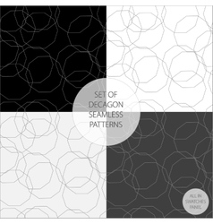 set of four patterns in monochrome vector image