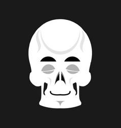 skull sleeps emoji skeleton head asleep emotion vector image vector image