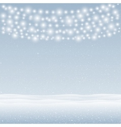 snow falling on blue background Garlands vector image