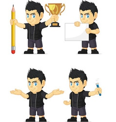 Spiky rocker boy customizable mascot 3 vector
