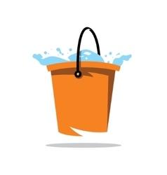 Water Bucket Cartoon vector image