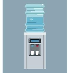 Water cooler bottle office equipment vector