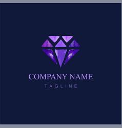 Watercolor diamond logo design7 vector