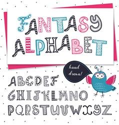 zentagle alphabet vector image