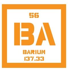 Barium chemical element vector