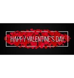 Valentines day banner design background vector
