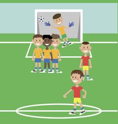 children play football vector image