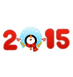 2015 snowman vector image vector image