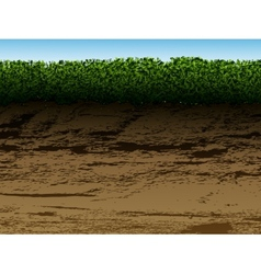 Soil with grass vector