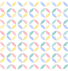 Colorful seamless geometric circle pattern vector