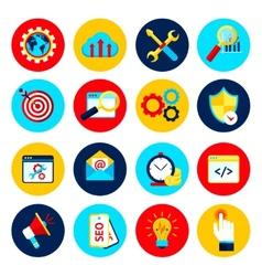 SEO internet marketing set vector image